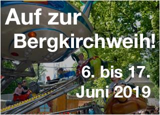 Die Bergkirchweih findet statt vom 06. bis 17. Juni 2019.